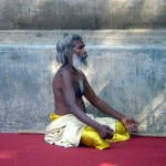 A Holy man in meditation