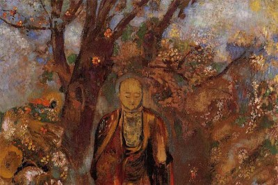 Odilon-Redon-Buddha-Walking-Among-the-Flowers-1905.