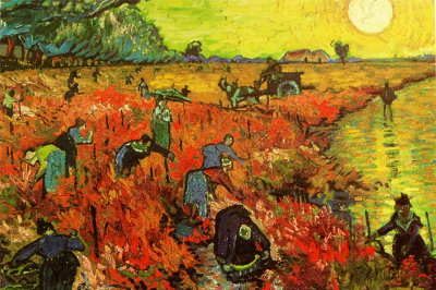Vincent Van Gogh, The Red Vineyard at Arles, 1888, oil, on canvas (Puskin Museum of Fine Arts, Moscow)