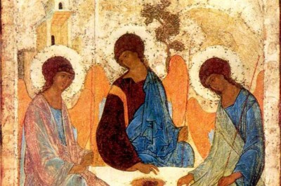 Andrei-Rublev, The-Old-Testament Trinity, 1422-–-1427, Moscow, Tretyakov Gallery