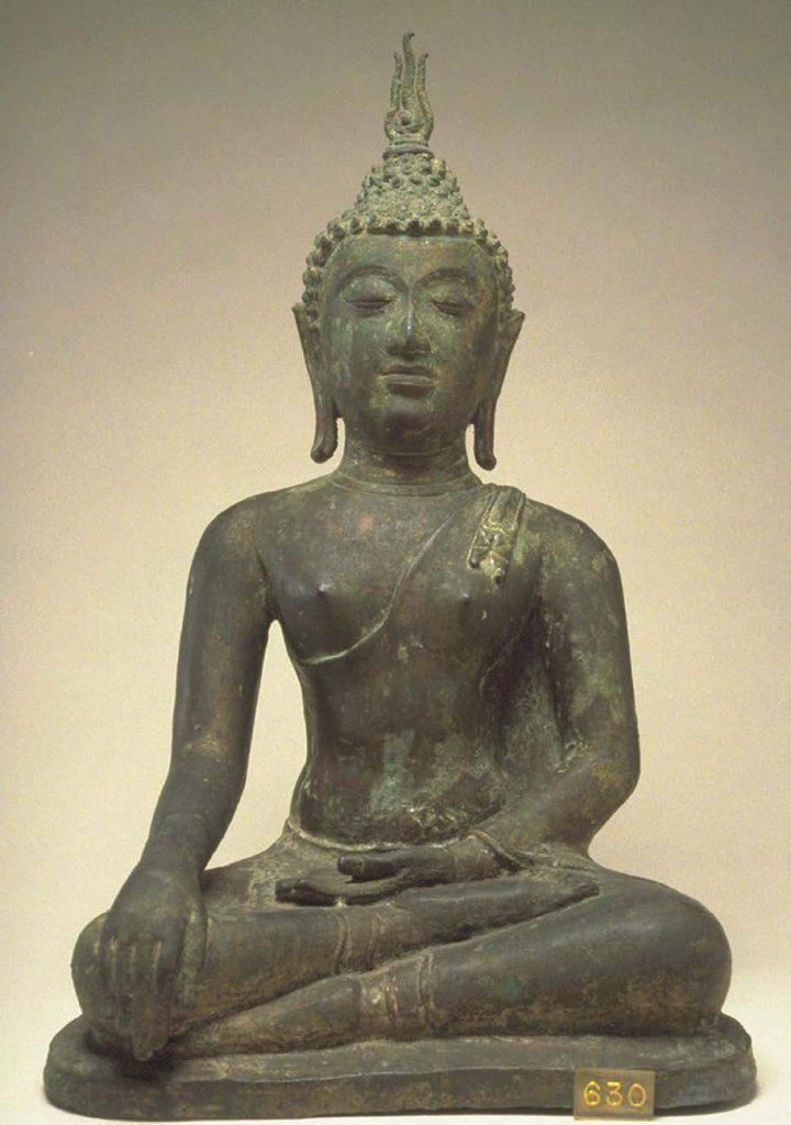 Photo Wikimedia Commons. Source Walter Art Mu - seum. Buddha at the Moment of Victory, fifteenth century