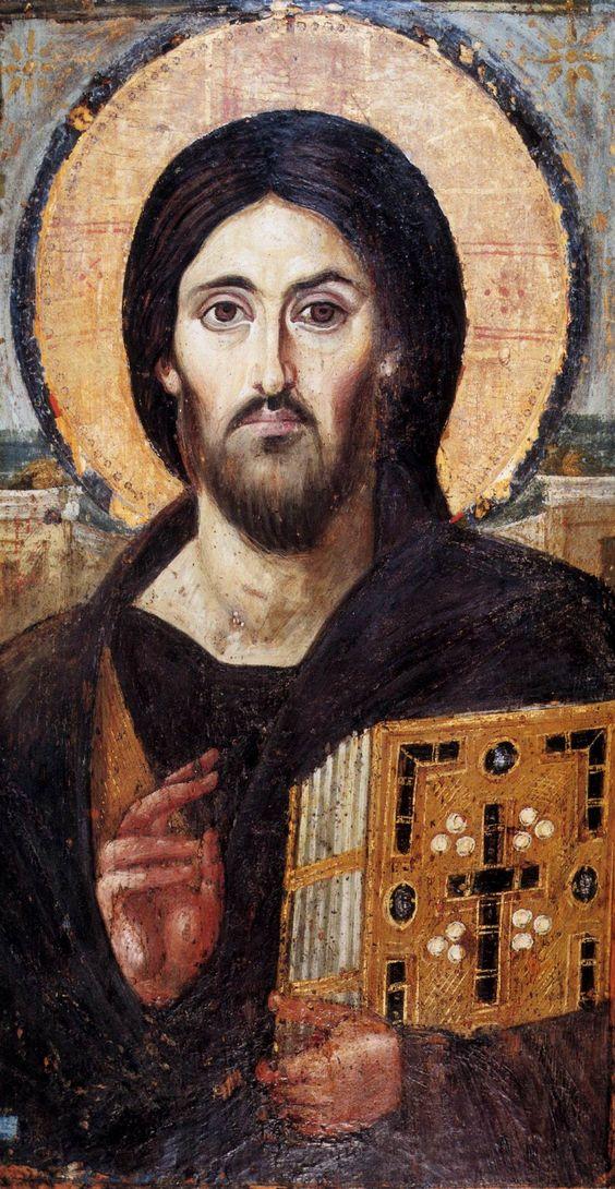 Encaustic icon of Christ, sixth century. St. Catherine's Monastery, Sinai