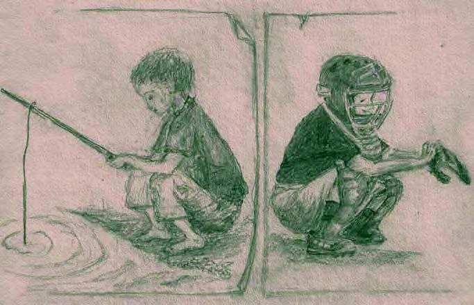 Drawing by Katharine Payne