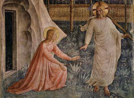 Mary Magdalene and Jesus, Fra Angelico, ca. 1437–144