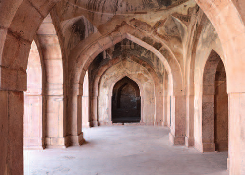 Arcade in Baz Bahadur's Palace, Mandu, India, 2013