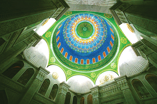 Dome of Bibi-Eybat mosque, Baku, Azerbaijan, 2014