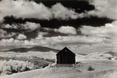 Minor White, Barn and Clouds, 1955