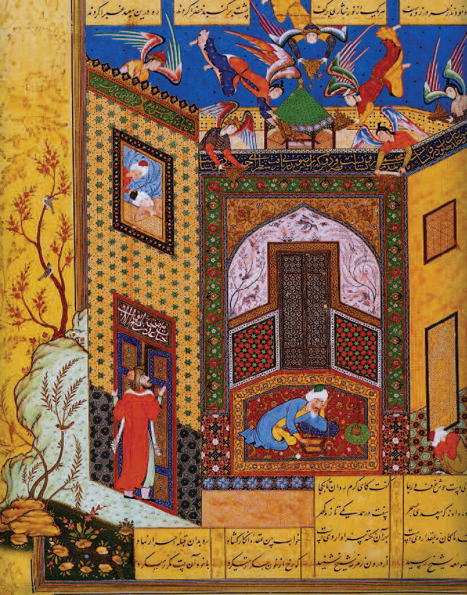 Miniature from Rose Garden of the Pious, Jami, 1553