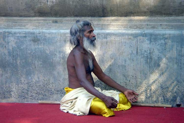 A Holy man in meditation (from Wikipedia)