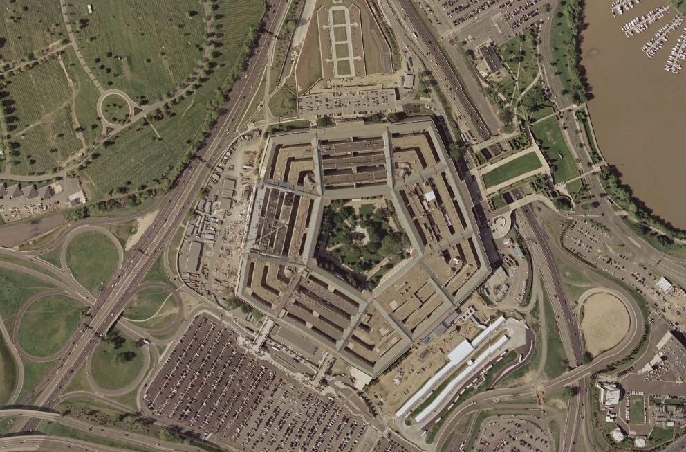 The Pentagon in April 2002.