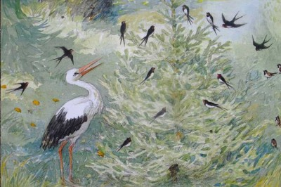 """Svend Otto Sørensen (1916-96), Illustration for """"The Fir Tree."""""""