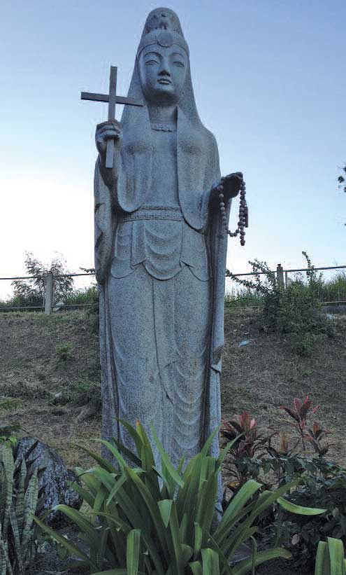 Madonna. WWII peace commemoration statue, Tacloban, Philippines