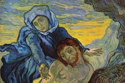 Vincent Van Gogh, Pietà (after Eugène Delacroix). 1889. Van Gogh Museum, Amsterdam