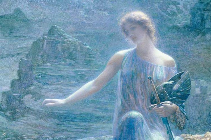 Edward Robert Hughes, The Valkyrie's Vigil, 1906