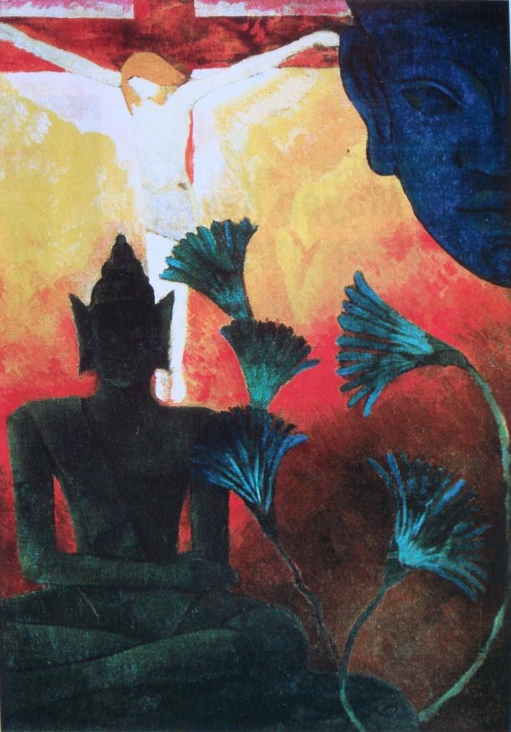 "Paul-Elie Ranson [1864-1909], ""Christ and Buddha,"" 1890"