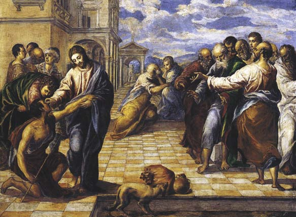 Christ Healing the Blind, El Greco, c. 1567