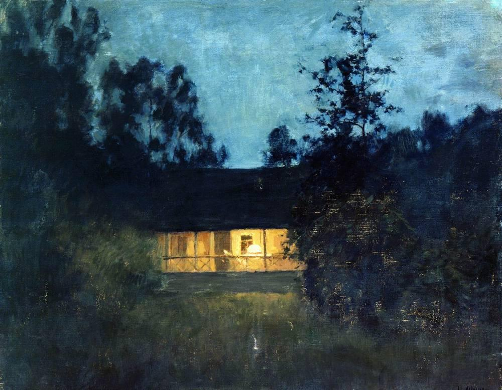 "Isaac Levitan, ""At the Summer House in Twilight"" (1895)"