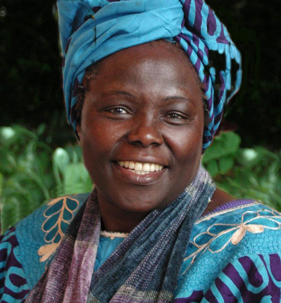 Wangari Maathai. Photograph by Martin Rowe