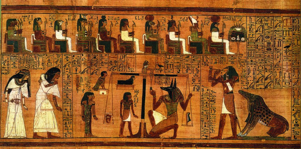 The Weighing of the Heart from the Book of the Dead of Ani. c. 1300 B.C. British Museum