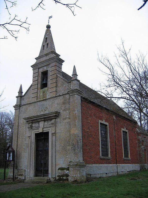 St John's Church, Little Gidding, as rebuilt in 1714