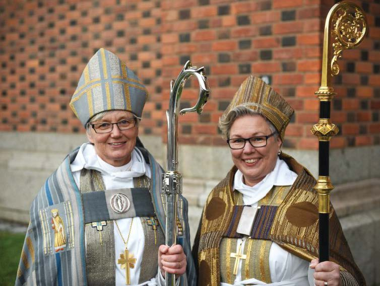 Church of Sweden Archbishop Antje Jackelén (l.) and Bishop Eva Nordung Bystrom, 2014