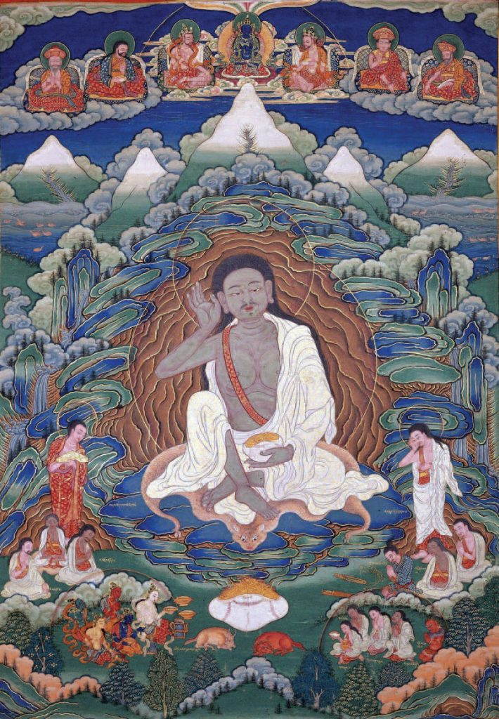 Painted thangka of Milarepa. Late nineteenth-early twentieth century, Bhutan