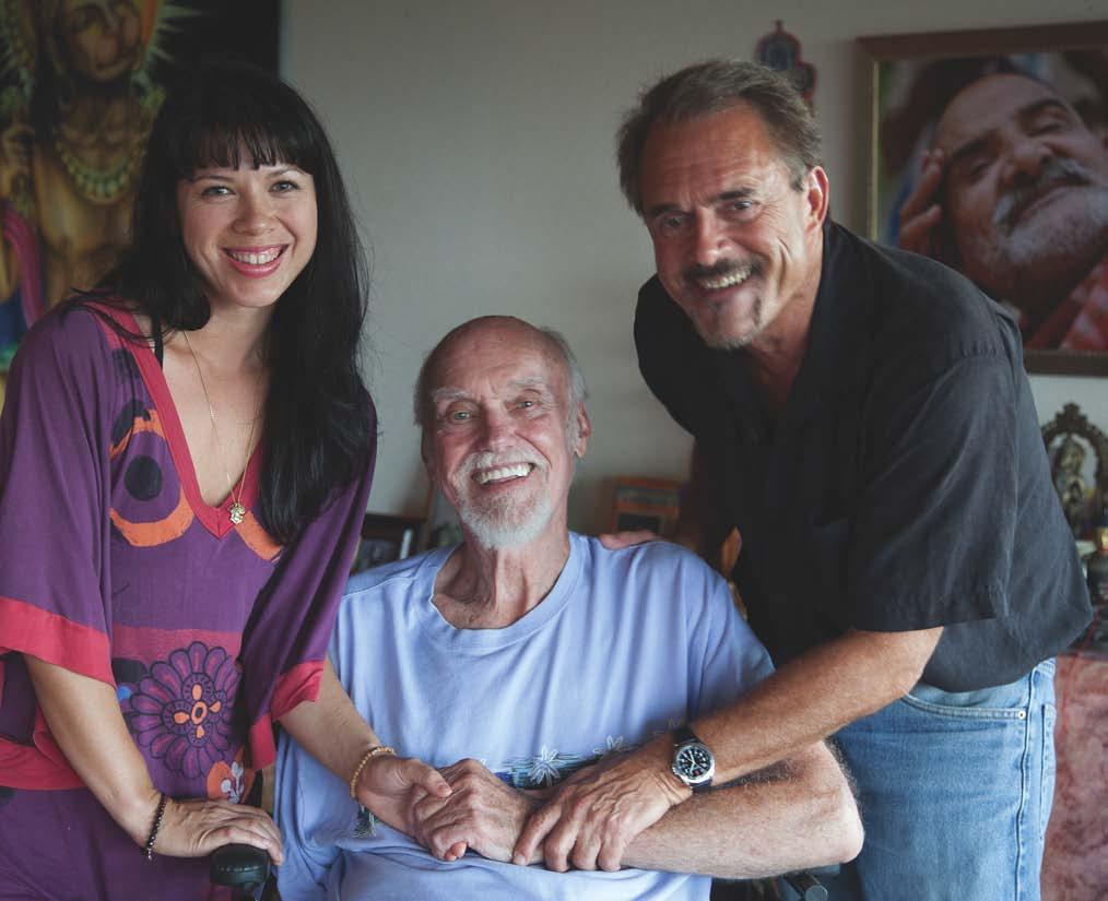 Ram Dass with David Ulrich and Laura Dunn