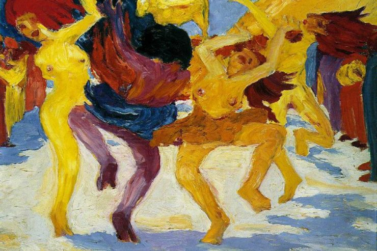 Dance Around The Golden Calf by Emil Nolde
