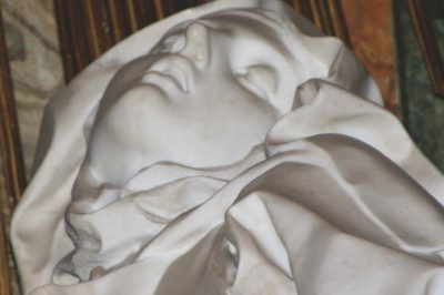 Ecstasy of St Theresa (detail), by Gianlorenzo Bernini, 1652. Photo by Nina Aldin Thune