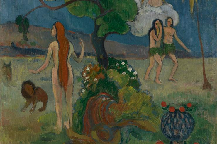 "Paul Gaugin, ""Paradise Lost,"" c. 1890. Oil on Canvas. Yale University Art Gallery, New Haven, Connecticut"