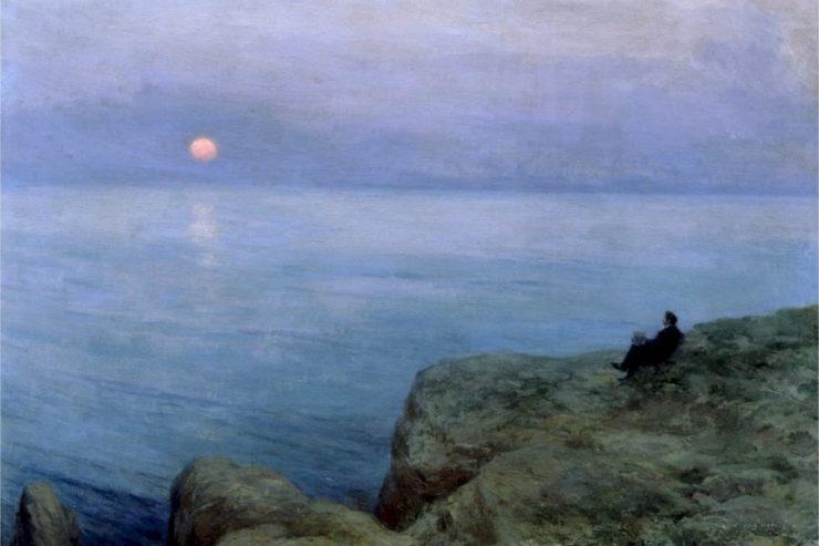 Painting by Leonid Pasternak, Alexander Pushkin at the seashore