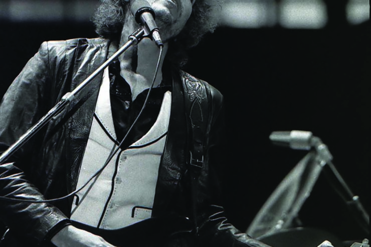 Bob Dylan in concert, Rotterdam de Kuip, June 23, 1978. Photograph by Chris Hakkens